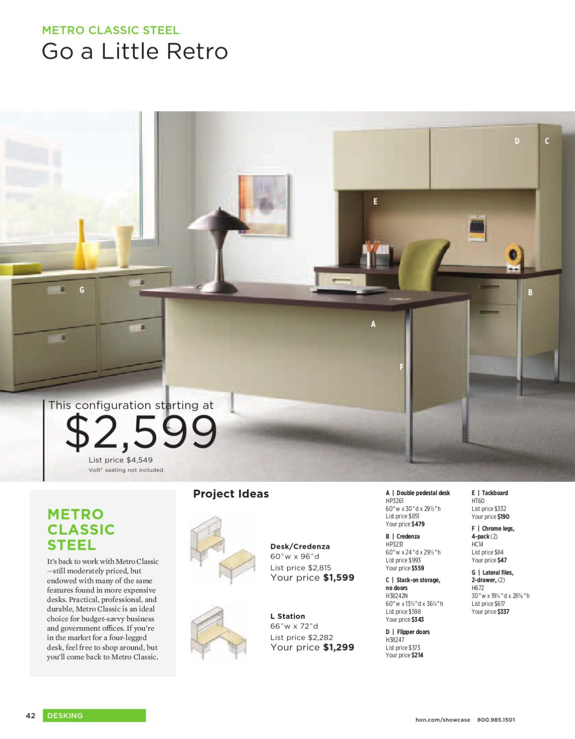 Hon Office Furniture Catalog 2017 By