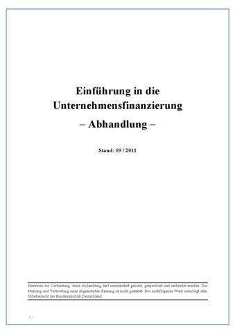 Unternehmensfinanzierung by Thomas Müller - issuu