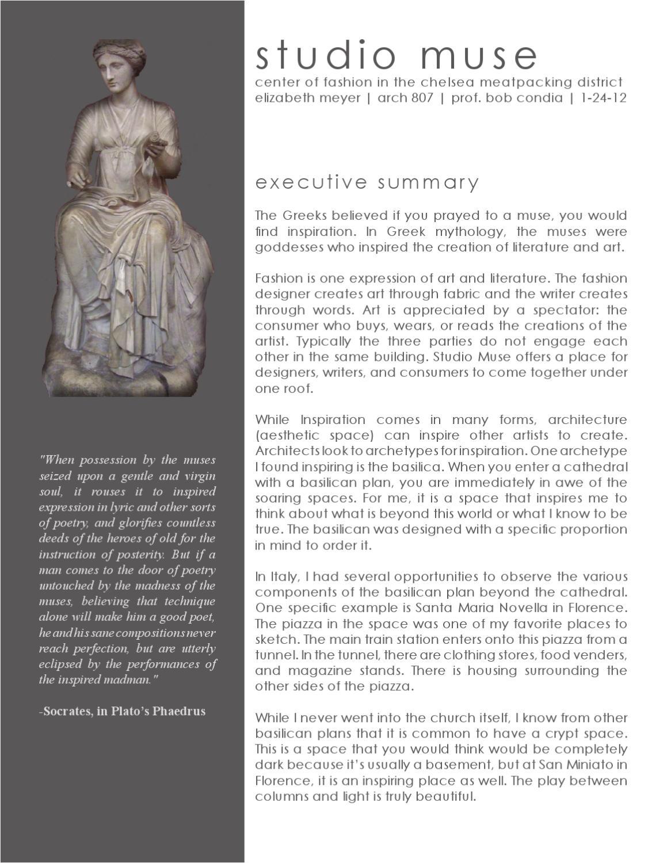 Liz Meyer Studio Muse Executive Summary By Levi Wall Issuu