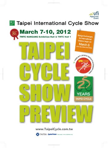 2498f7769eb 2012 TAIPEI CYCLE Show Preview by TCS News - issuu
