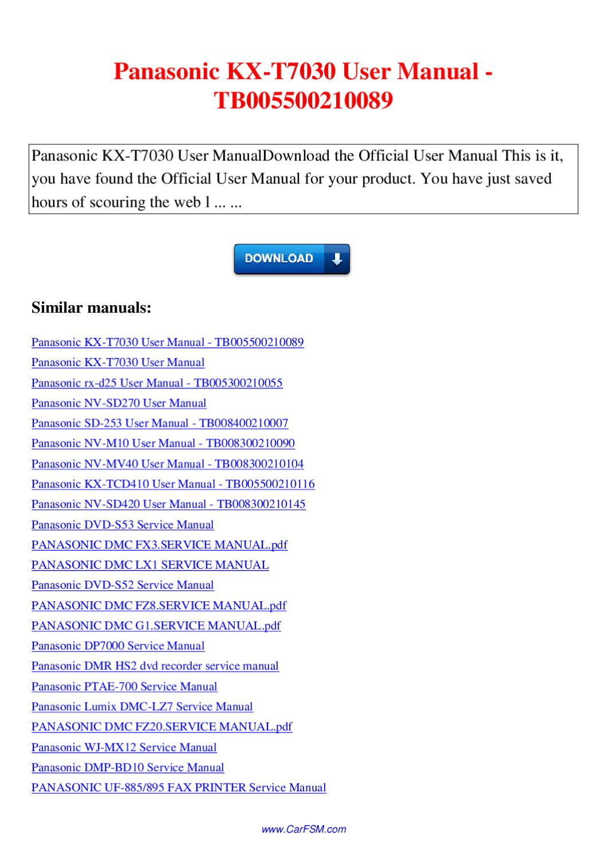 Dvd S53 Panasonic Manual