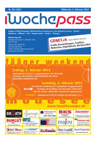Woche Pass Kw05 1 Februar 2012 By Woche Pass Ag Issuu