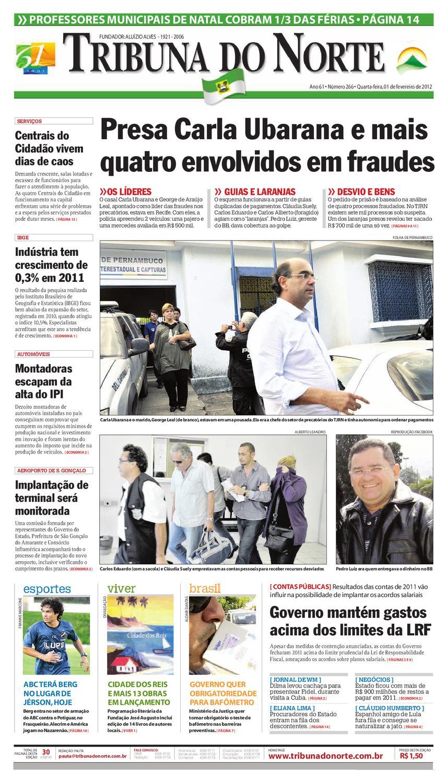 Tribuna do Norte - 01 02 2012 by Empresa Jornalística Tribuna do Norte Ltda  - issuu 313e727b2ec