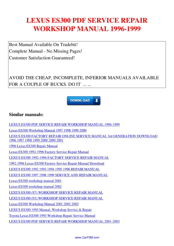 Download Free Lexus Es Repair - Free Download