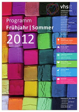 Programm Frühjahr/Sommer 2012 by Volkshochschule Reutlingen - issuu
