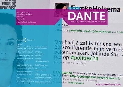 1f683485601abd DANTE magazine nr. 6 (voorjaar 2011) by Tilburg University - issuu