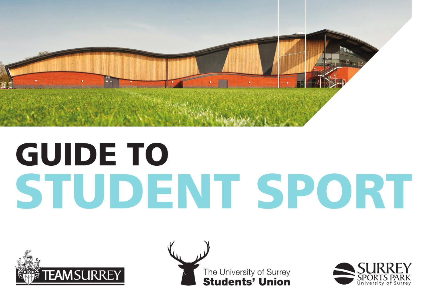 Student Guide to Sport by Surrey Sports Park - issuu