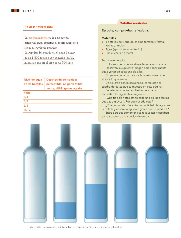 Botella De Agua Ciencias Naturales 5to...