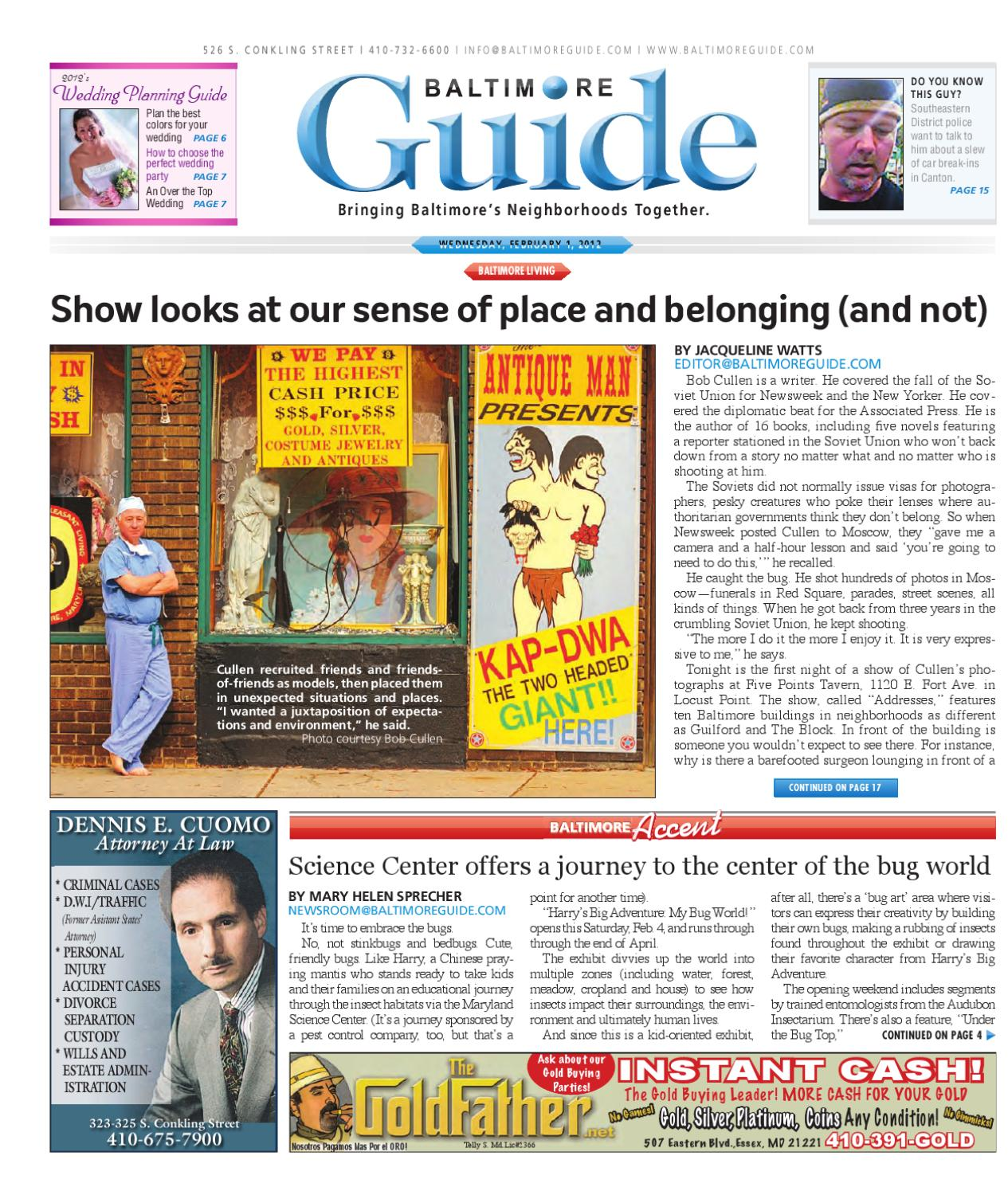 February 1, 2012 - The Baltimore Guide by The Baltimore