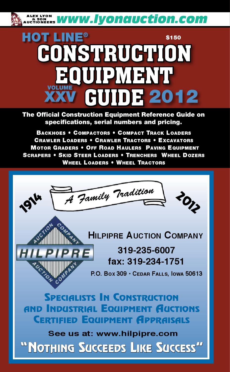 Construction Equipment Guide Sample by Heartland Communications