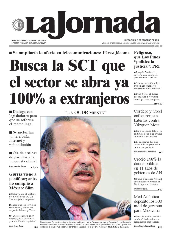 La Jornada, 02/01/2012 by La Jornada - issuu