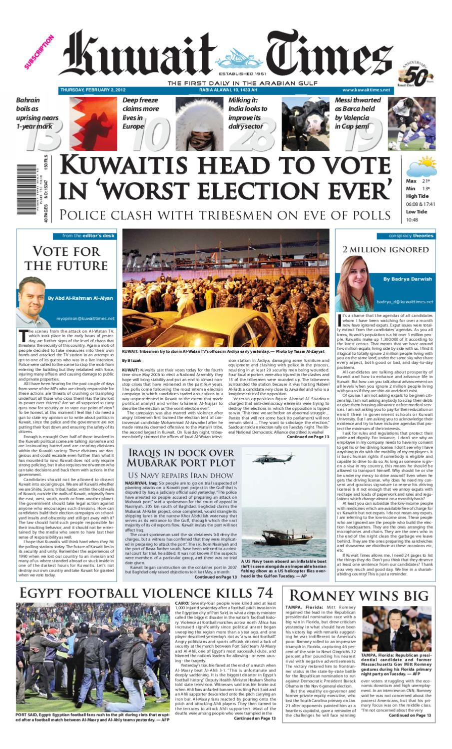02 Feb 2012 By Kuwait Times Issuu
