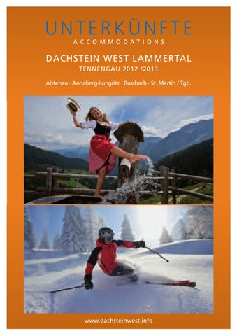 Unterkünfte Dachstein West Lammertal 2012/ 2013 By Gästeservice ...