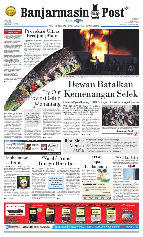 Banjarmasin Post Edisi Jumat 3 Februari 2012 By Fcenter Meja Makan Dt Sienna Dan Dc Danish Jabodetabek Issuu
