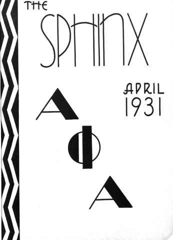 The SPHINX | Spring April 1931 | Volume 17 | Number 2 193101702 by