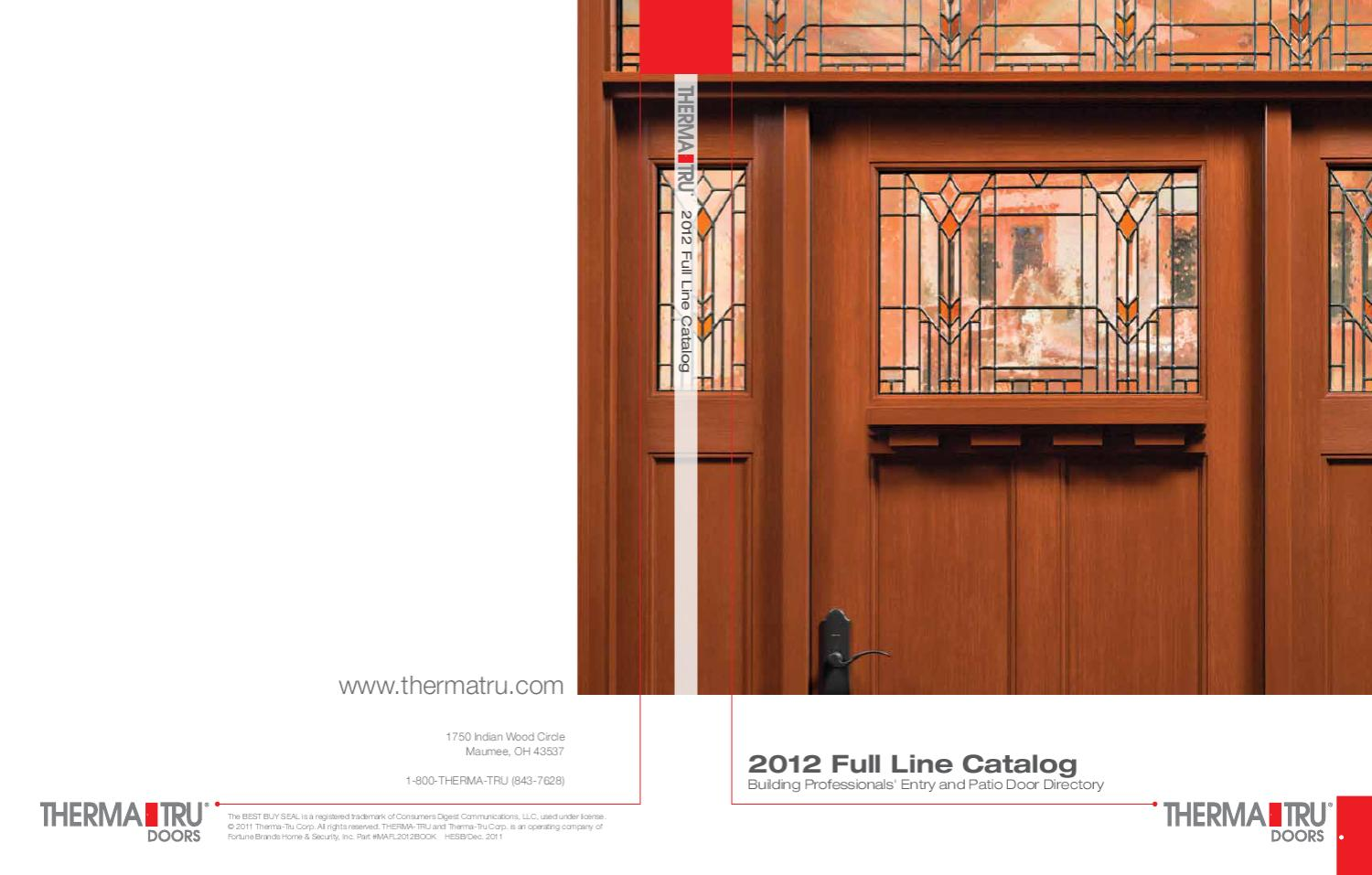 Thermatru Catalog 2011 By Danvoy Group Llc Glenview Doors