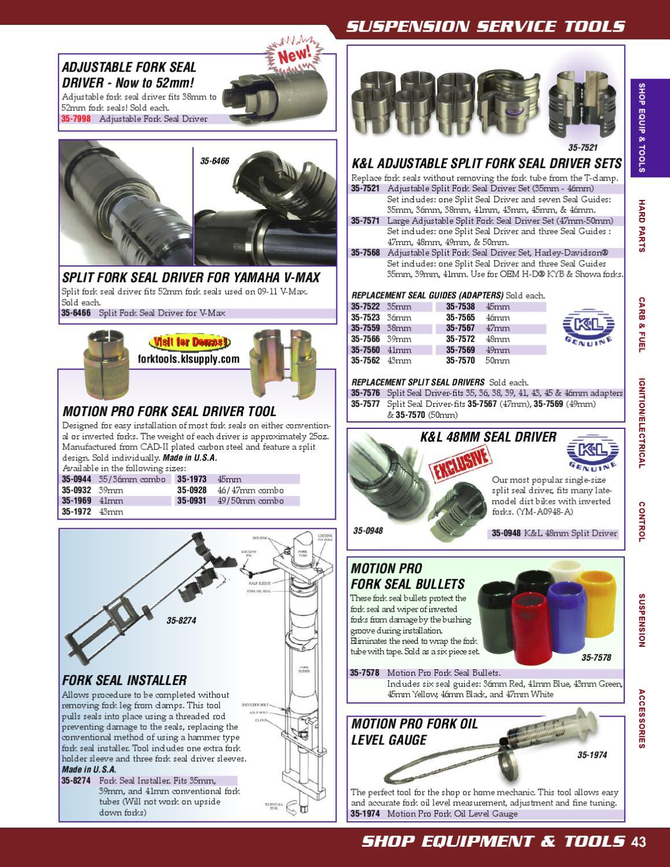 43mm Motorcycle Bike Fork Seal Driver Split Design Conventional Inverted Forks