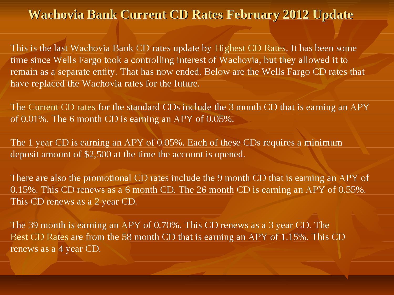wachovia bank free checking