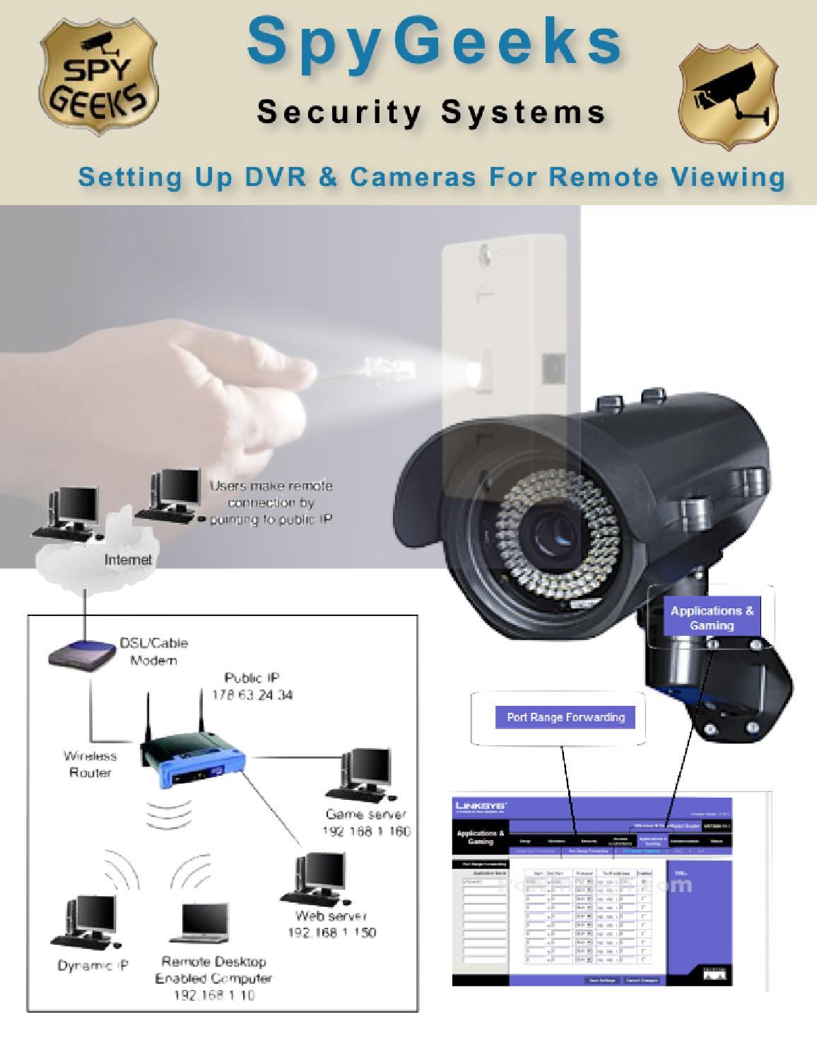 How to Setup DVR and Setup IP Camera by Spy Geeks