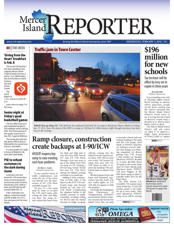 Mercer Island Reporter, February 01, 2012 by Sound