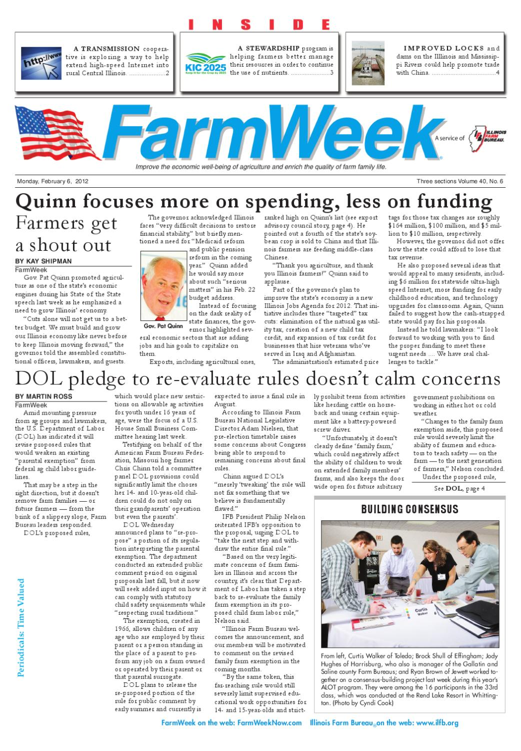 FarmWeek Feb  6, 2012 by Illinois Farm Bureau - issuu