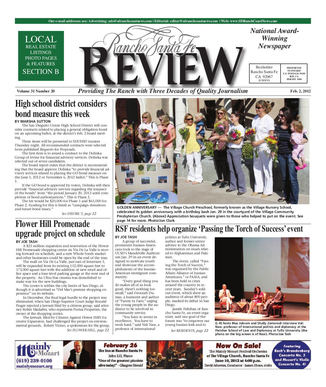 2 2 2012 Rancho Santa Fe Review By Mainstreet Media Issuu