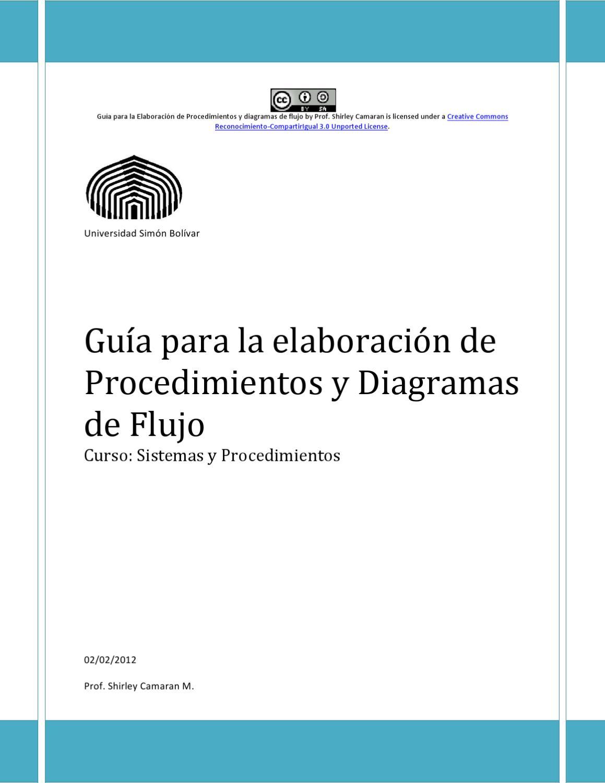 Guía de Elaboración de Procedimientos y Diagramas de Flujo by ...