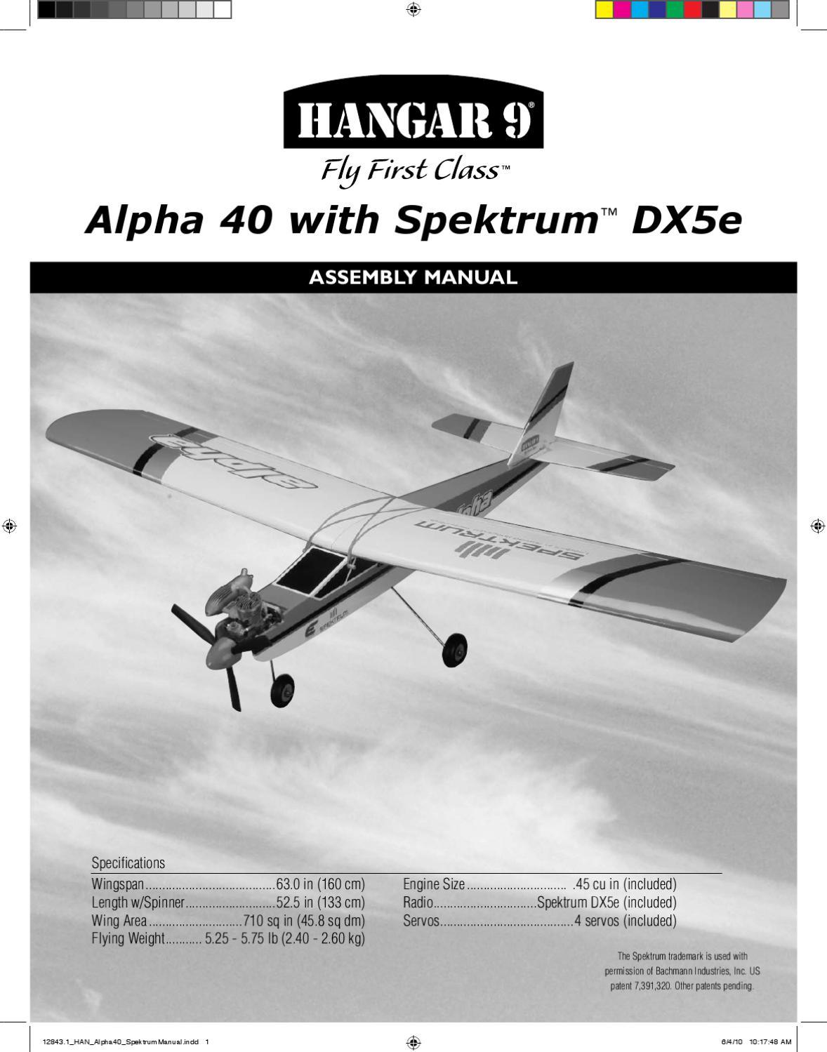 Hangar 9 Alpha 60