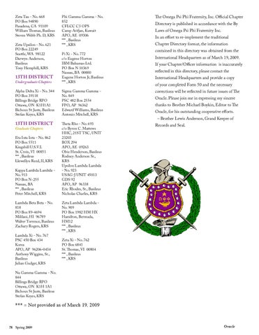 Omega Psi Phi | Spring 2009 Oracle by Progressive Greek - issuu