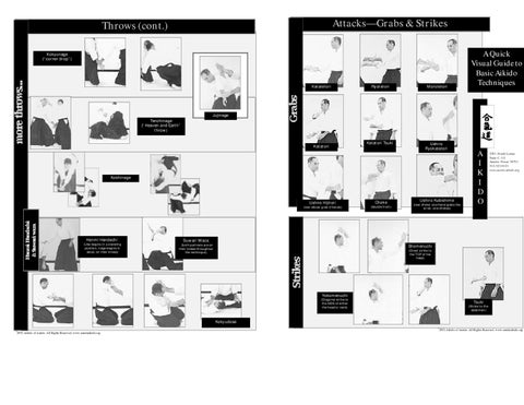 Martial Arts Quick Visual Guide To Basic Aikido Techniques By Clubul Sportiv Olimpia Slobozia Issuu