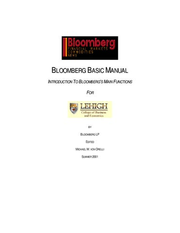 Manual bsico de bloomberg by biblioteca up universidad del pacifico bloomberg basic manual introduction to bloombergs main functions for publicscrutiny Gallery