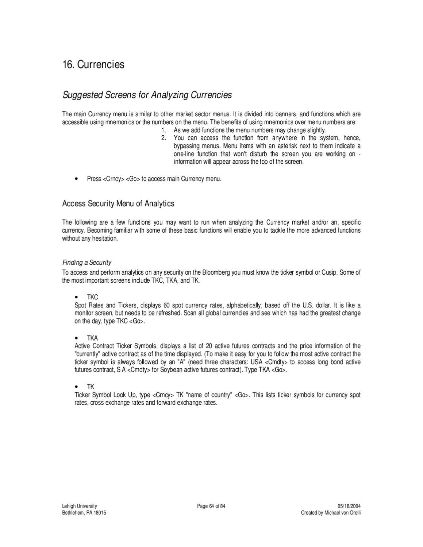 Manual Bsico De Bloomberg By Biblioteca Up Universidad Del Pacifico