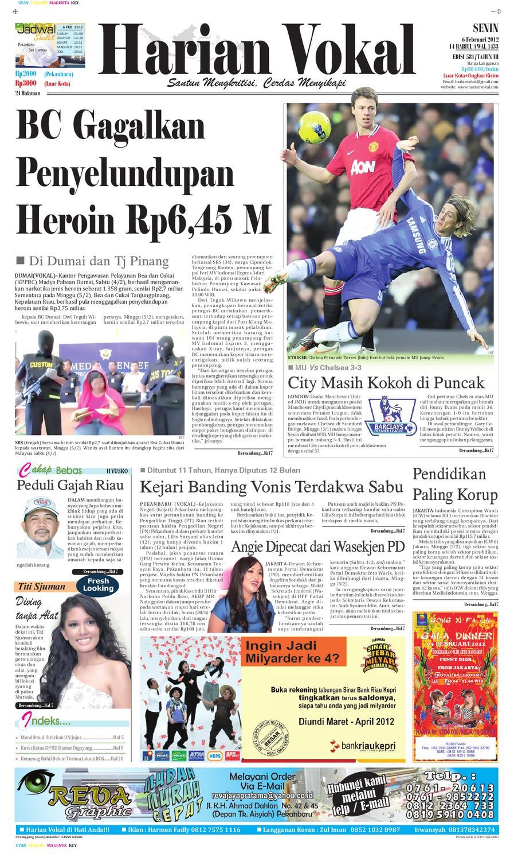 Harian Vokal Edisi 06 Februari 2012 By Riau Publisher Issuu