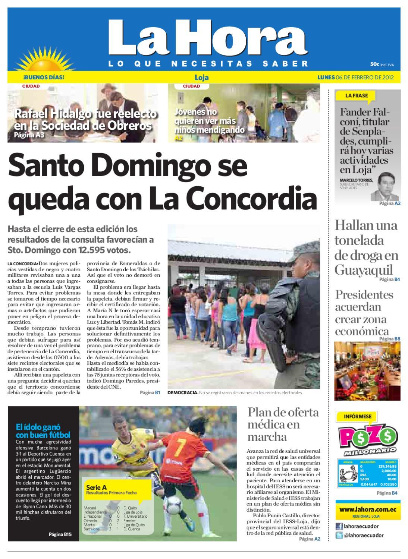Diario La Hora Loja 06 De Febrero 2013b By Diario La Hora Ecuador  # Venta Nocturna Muebles Placencia