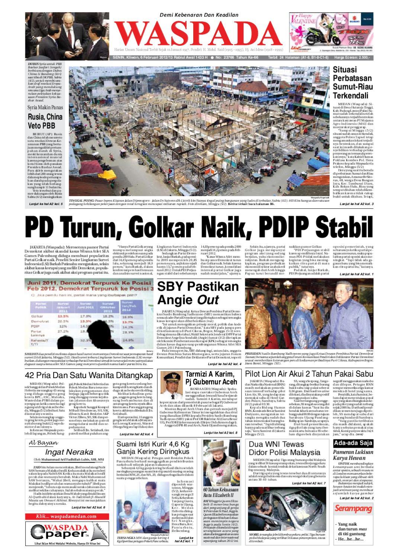 Waspada Senin 6 Februari 2012 By Harian Issuu Rkb Tegal Madu Mongso