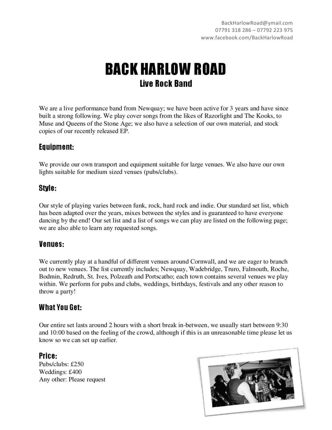 Back Harlow Road by Matthew Griffiths - issuu