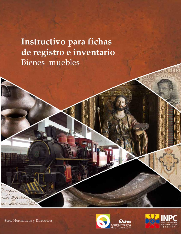 Instructivo Para Fichas De Inventario De Bienes Culturales Muebles  # Muebles Fijos Especificaciones