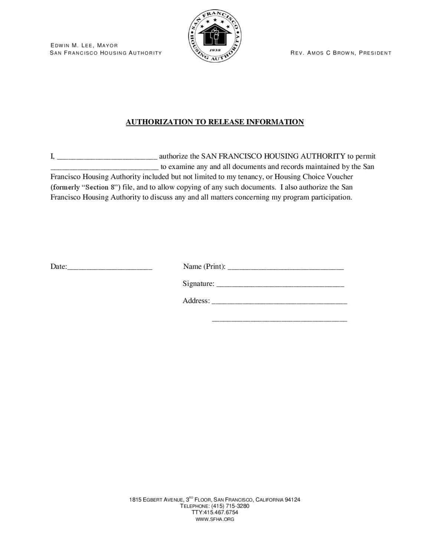 release of information letter