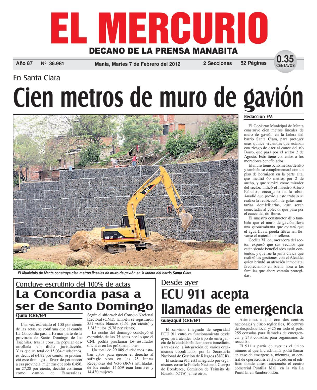 7febrero2012 by diario el mercurio issuu - Muros de gavion ...