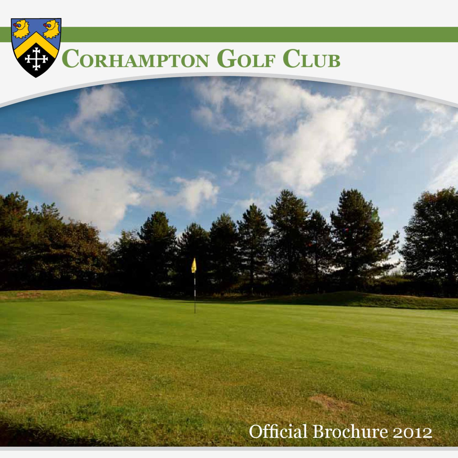 Corhampton Golf Club ficial Brochure 2011 12 by Global Sports