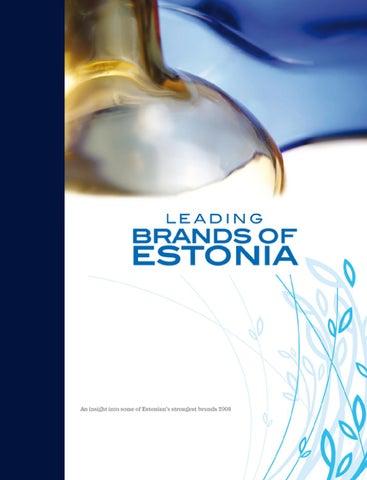 9606dac9f Leading Brands of Estonia by Eesti Kaubandus-Tööstuskoda   Estonian ...