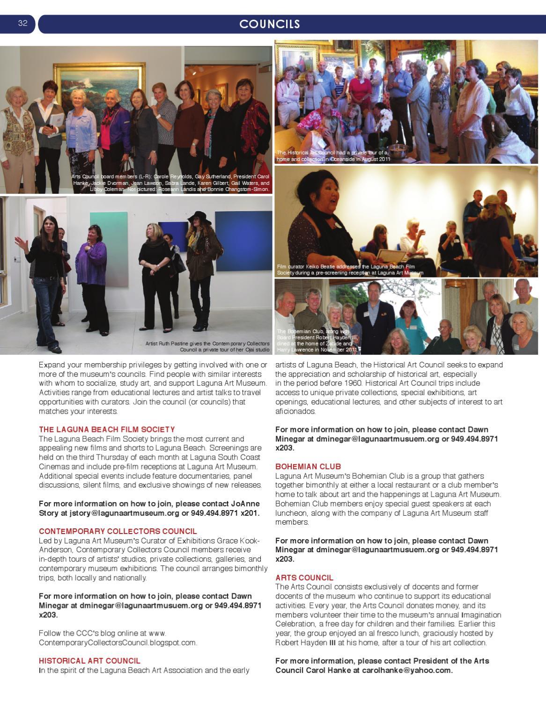 Laguna Art Museum: Members' Magazine 2012 by Marni Farmer