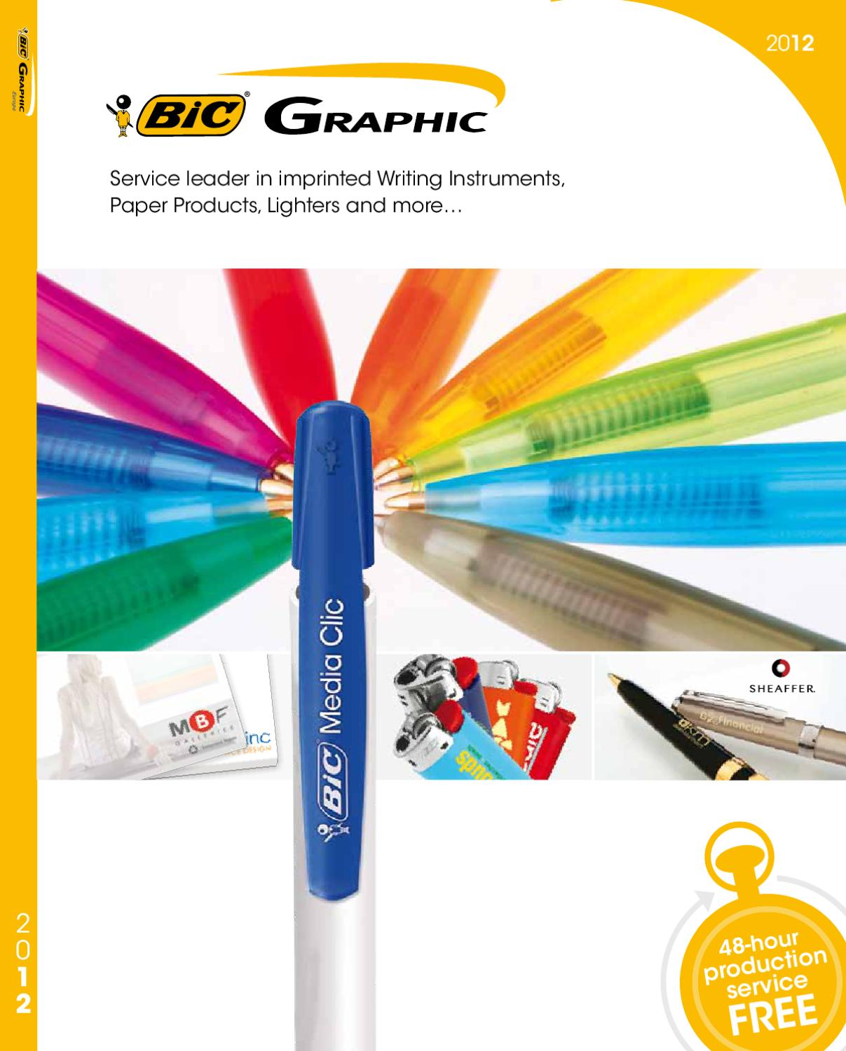 Catalogo Bic Graphic 2012 By Patcheurope Com S R L Issuu