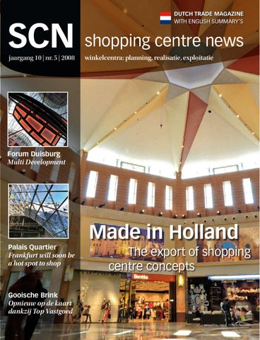 Page 1. DUTCH TRADE MAGAZINE WITH ENGLISH SUMMARY S. SCN shopping centre  news ... 65fae0d583294