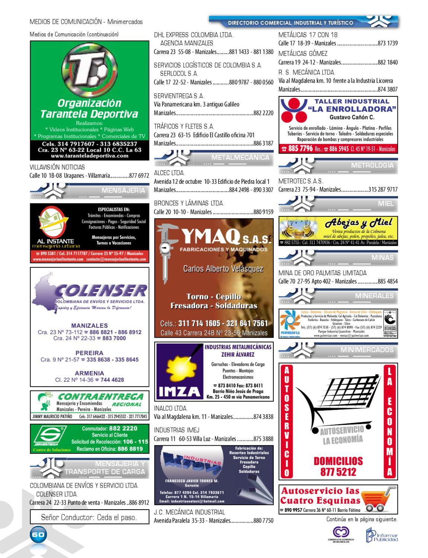 Directorio comercial industrial y turistico de manizales for Oficinas dhl colombia
