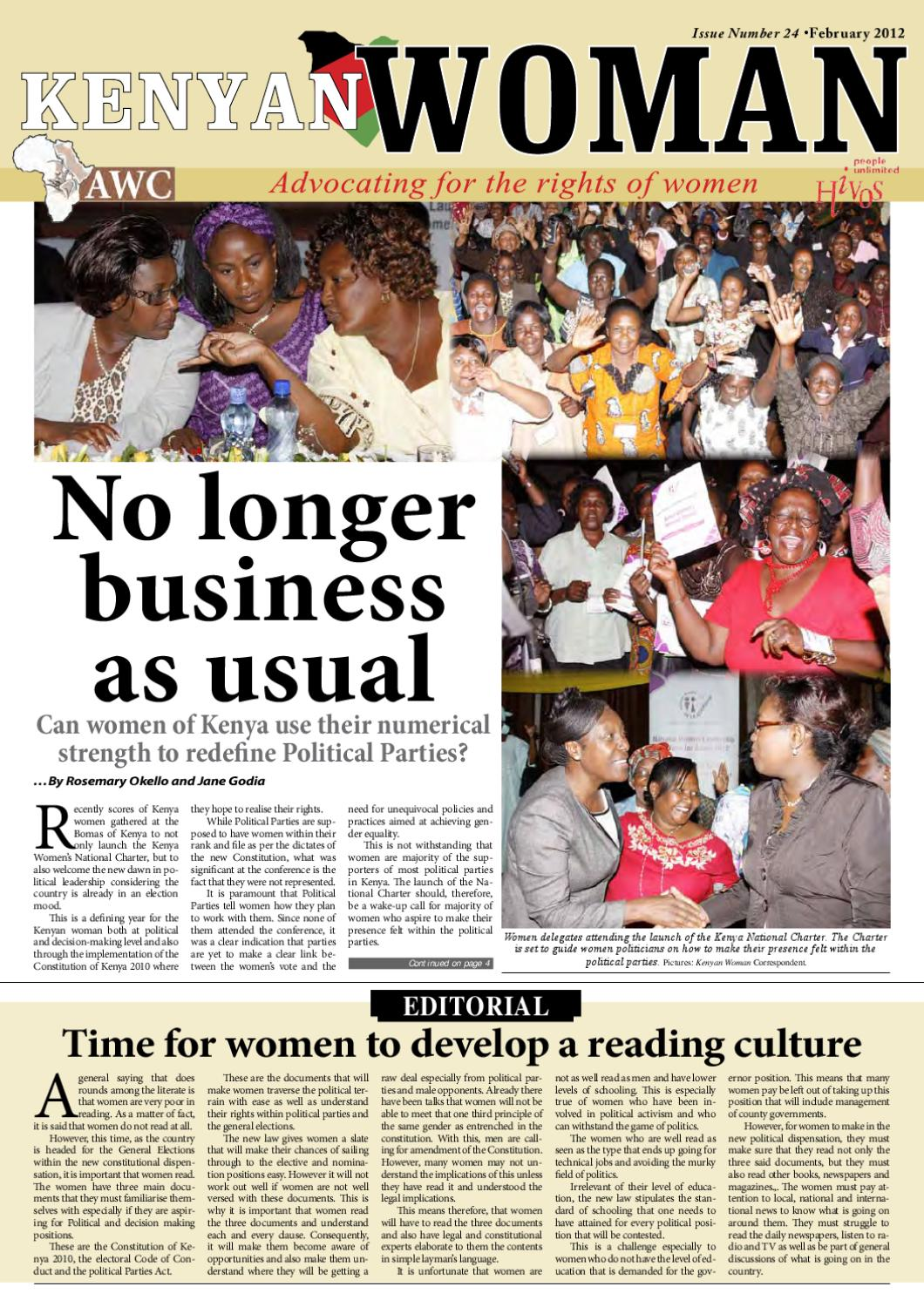 Kenyan Woman Issue 24 by African Woman & Child Feature