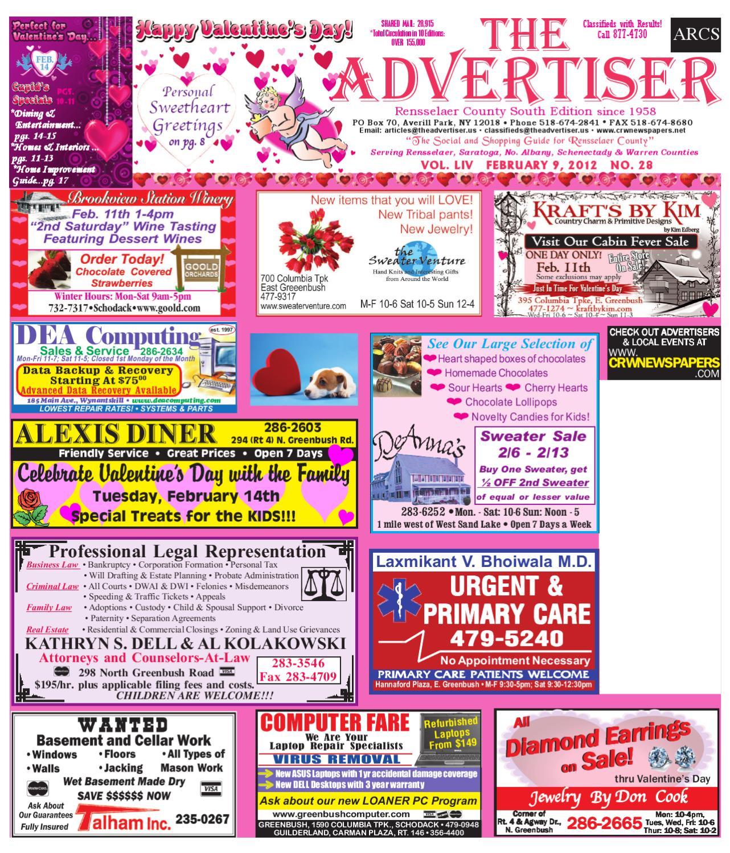 Advertiser South 020912 by Capital Region Weekly Newspapers - issuu