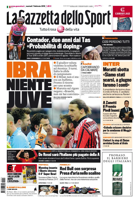 sports shoes 7a964 dc015 La Gazzetta dello Sport 7 2 2012 by LBG Laziali bella gente - issuu