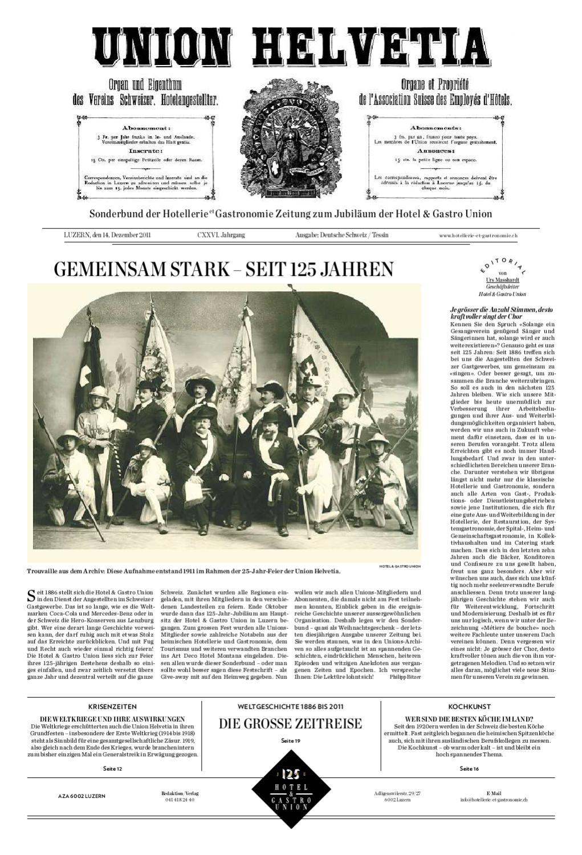 Sonderbund Jubiläum by Hotellerie_Gastronomie_Verlag - issuu