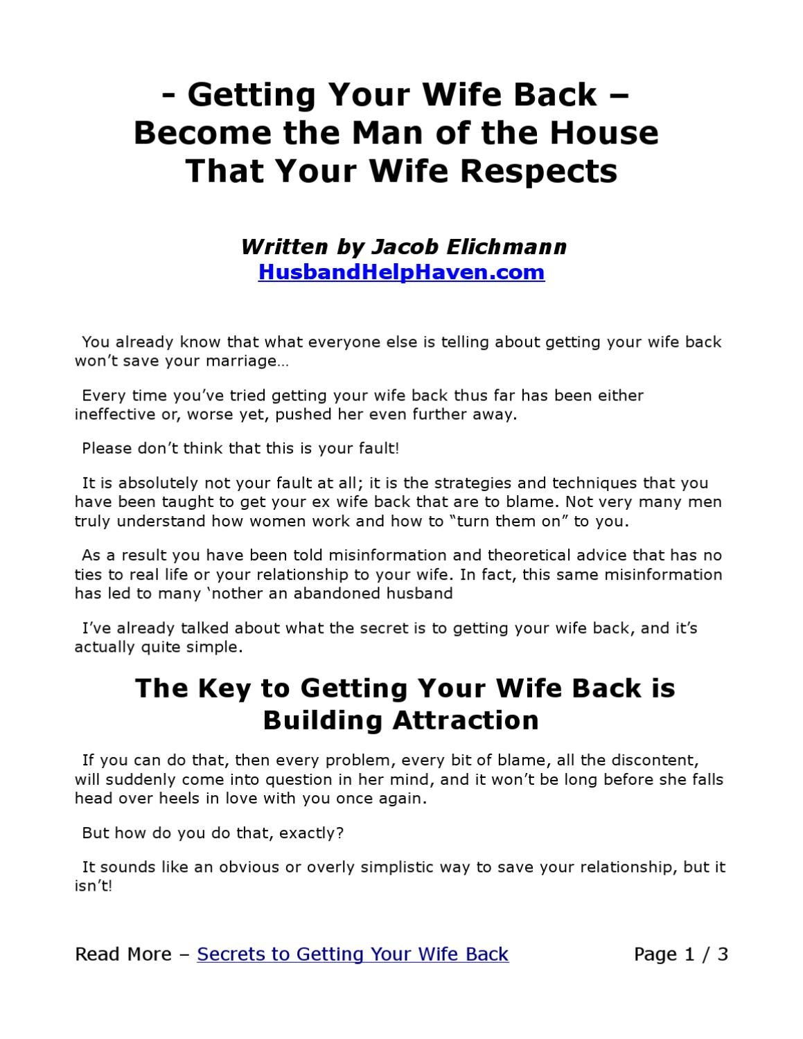 How to get your wife back 48